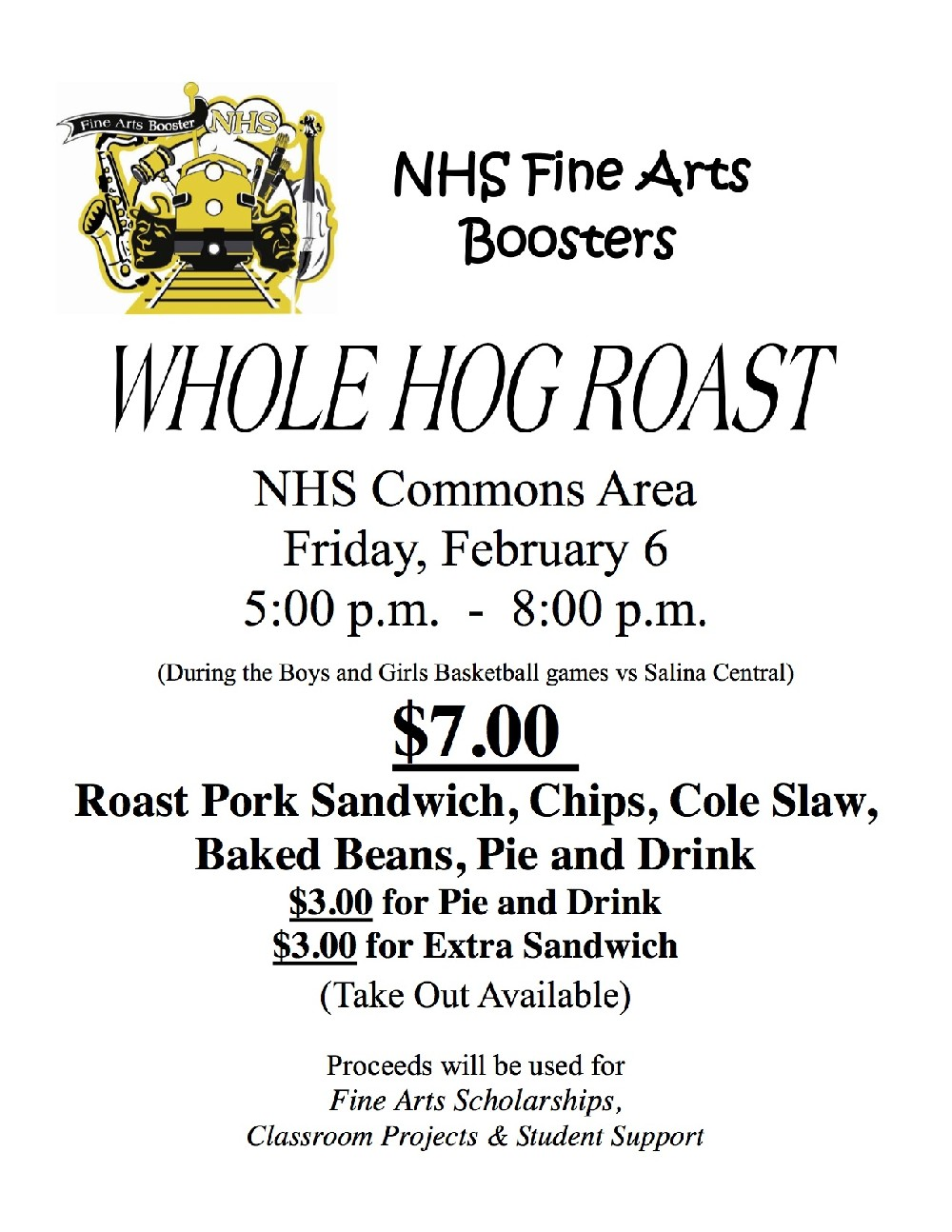 NHS Whole Hog Roast Poster